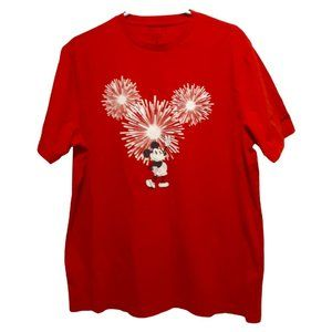 Disney American Eagle Red Mickey Mouse T-Shirt L